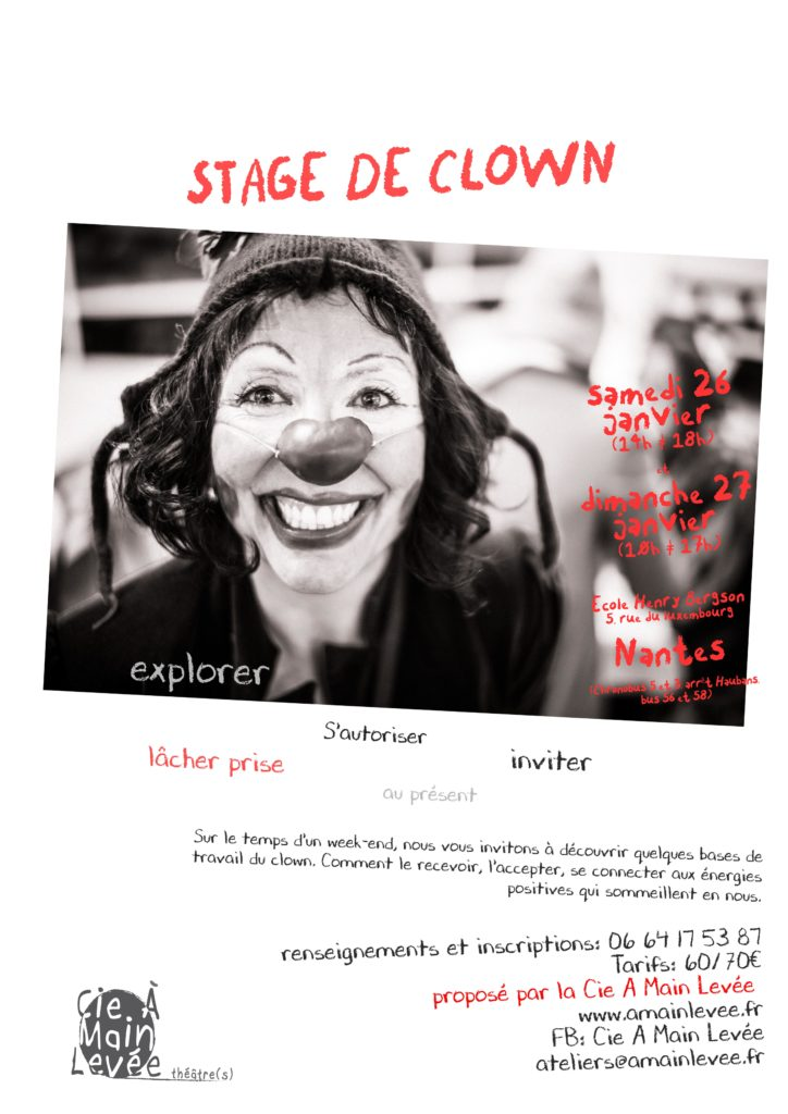 stage de clown janvier 2019